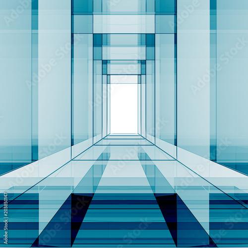 Koncepcja szklanego projektu renderingu 3D