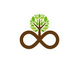Tree Infinity Icon Logo Design Element - 203860366