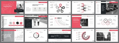Fototapeta Business Development Slide Template
