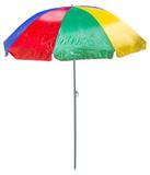 parasol de plage avec piquet, fond blanc - 203867148