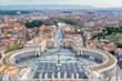 Aerial view of Saint Peter's Square in Vatican, Rome, Italy.