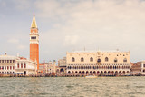 Venice landmark, view from Grand Canal of Piazza San Marco or st. Mark Square. Italy, Europe.