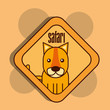 safari tiger animal zone sign vector illustration