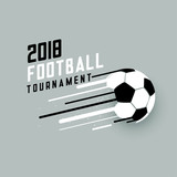 2018 football tournament background with abstract soccer ball - 203895929