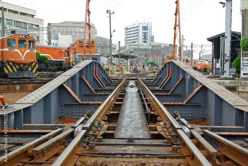 Plexiglas Spoorlijn 彰化扇形車庫のターンテーブル