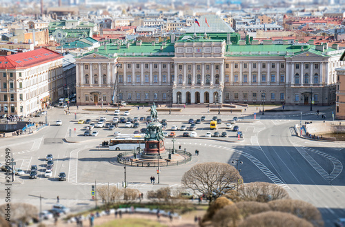 Saint Isaac's Square and Mariinsky Palace in Sankt-Peterburg.