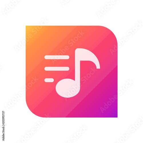 Fotobehang Muziek Playlist - APP Icon (Vector)