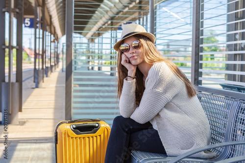 Obraz na płótnie on the railway station