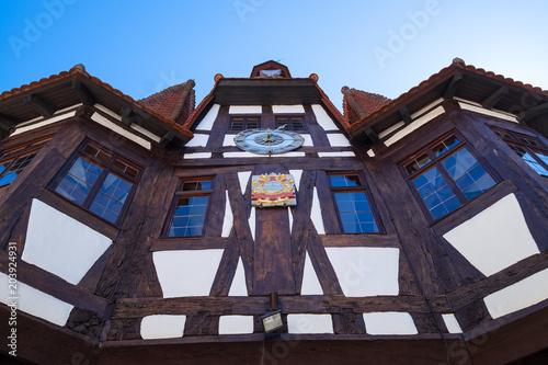 Foto Murales Das Rathaus von Michelstadt im Odenwald