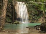 Beautiful and breathtaking green waterfall, Erawan Waterfall  at Kanchanaburi, Thailand