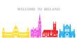 Ireland set. Isolated Ireland  architecture on white background - 203958318