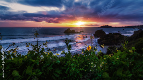 Plexiglas Strand Seascape Sunset in Northern California