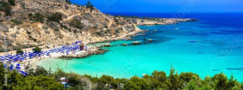 Best beaches of Cyprus - Konnos Bay in Cape Greko national park