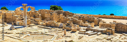 Fotobehang Freesurf Landmarks of Cyprus island - ancient Kourion archaeological site