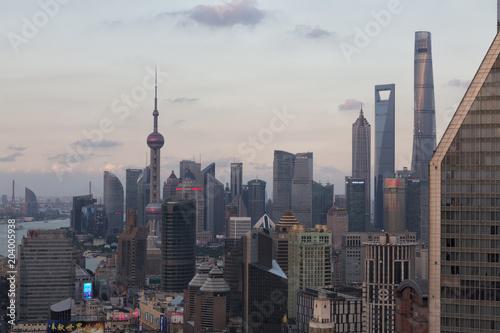 Plexiglas New York Beautiful shanghai skyline