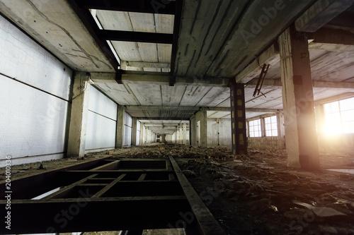 Plexiglas Oude verlaten gebouwen Abandoned industrial building