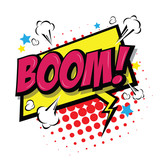 Boom! Comic Speech Bubble, Cartoon