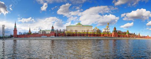 Plexiglas Moskou View on Moscow Kremlin and Kremlin Embankment in Moscow. Russia