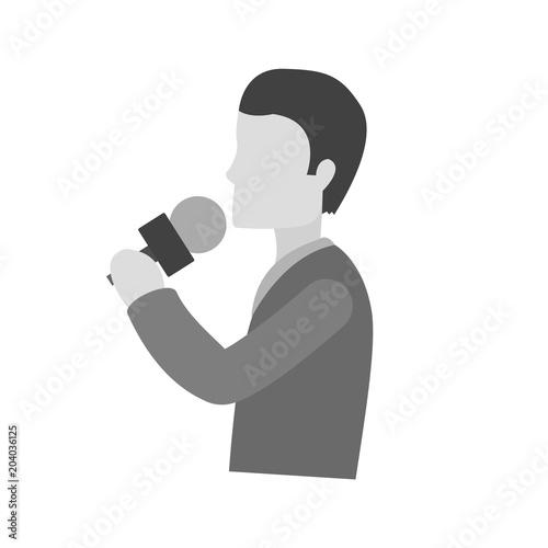 Fototapeta Singing, microphone, music