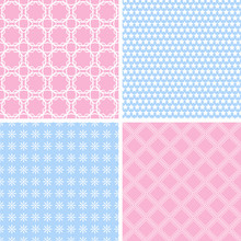 Baby Pastel Different  Seamless Patterns Sticker