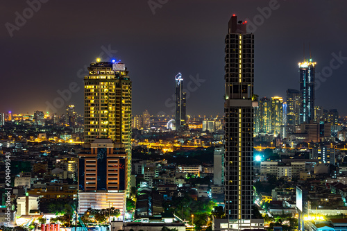 Canvas Bangkok Bangkok Cityscape at Twilight Time