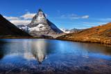 Mt Matterhorn reflected in Riffelsee Lake Zermatt Canton of Valais - 204049704