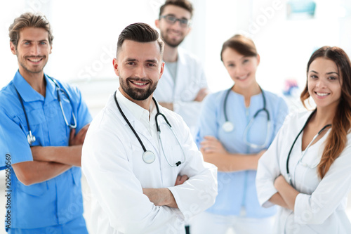 leading doctor of the medical center peers. © FotolEdhar