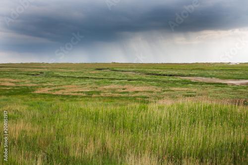 Plexiglas Noordzee Regenfront