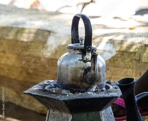 Äthiopien - Tanasee - Kaffee Zeremonie im Ura Kidane Mihret Kloster