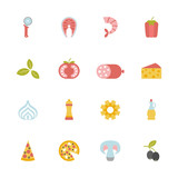 set of pizza icons - 204054396