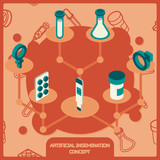 Artificial insemination icon set - 204060782
