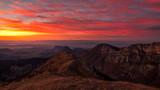 Coucher de soleil montagne de Couspeau
