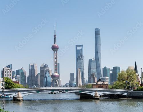 beautiful shanghai cityscape