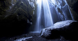 Crystal Cavern - Iceland's Gljúfrabúi Falls in Winter