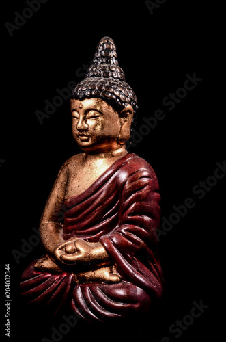 Canvas Boeddha Oriental Buddist Statue Isolated