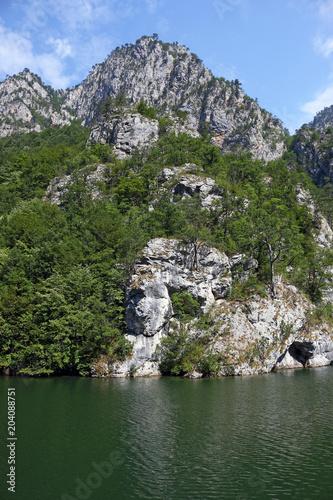 Aluminium Bergrivier Drina river canyon Tara mountain landscape Serbia