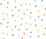 Hand drawn vector abstract graphic cartoon simple colorful confetti decoration isolated on white background - 204089979