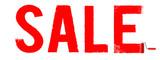 Sale Typo Anstrich rot mit Farbroller - Banner