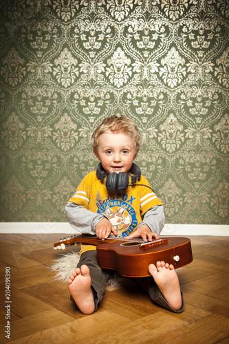 Fototapeta im Kinderzimmer Musik hören