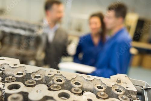 instruction in workshop