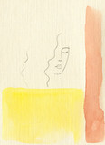 beautiful woman. fashion illustration. watercolor painting - 204100303