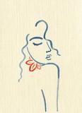 beautiful woman. fashion illustration. watercolor painting - 204101513