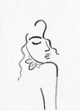 beautiful woman. fashion illustration. watercolor painting - 204101528