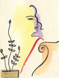 beautiful woman. fashion illustration. watercolor painting - 204101555