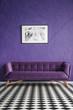 Violet living room interior