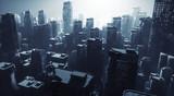Dark science fiction city - 204105150