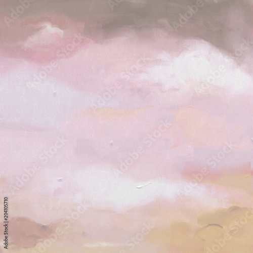 Hand painted oil paint colorful textured background, backdrop - 204105710