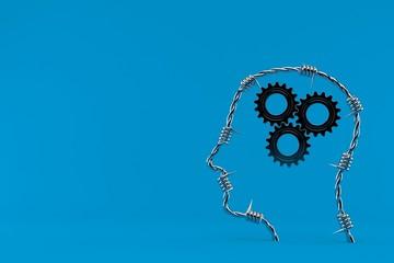 Gears inside human head © Talaj
