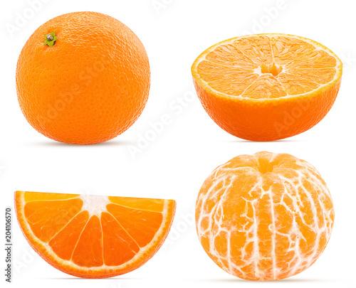 Set fresh mandarin whole, cut in half, slice and peeled