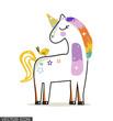 Cute Colorful Unicorn Drawing - 204110348